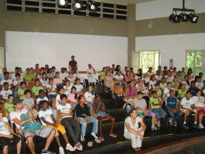 Alunos do Censf lotaram o teatro da Casa de Cultura para assistir às peças