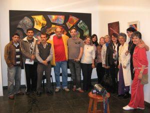 Secretário de Cultura Wanderley Peres, Subsecretário Ronaldo Fialho e os artistas participantes