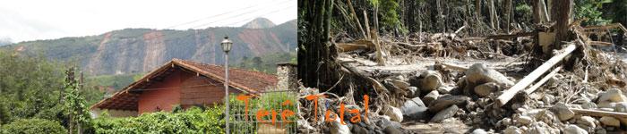 Deslizamentos de terra , mortes e desolação na serra carioca