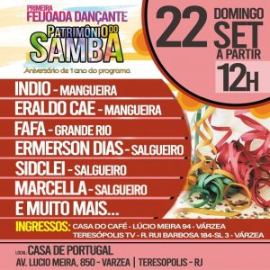 1ª feijoada dançante Patrimônio do Samba Terê