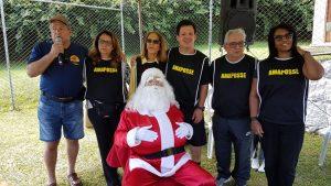 Equipe Amaposse na festa do Papai Noel no Clube Hotel Lagoa Teresópolis RJ
