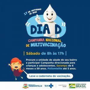 'Dia D' em Teresópolis das campanhas contra poliomielite, sarampo e de multivacinação