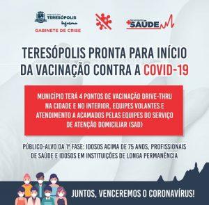 Teresópolis lança Plano Municipal de Vacinação Contra a COVID-19