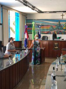Margareth Rosi, sec dos Direitos da Mulher, participa de reunião na Câmara Municipal