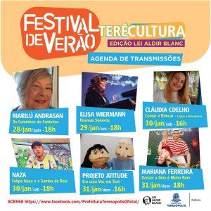 Festival de Verão Terê Cultura Online Edição Aldir Blanc