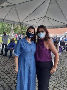 Secretária de Est. de Cultura, Danielle Barros, e Secretária Cléo Jordão
