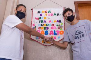 Pedro Victor Gregório e Wesley Monteiro Quintanilha: selecionados para estágio após preparação