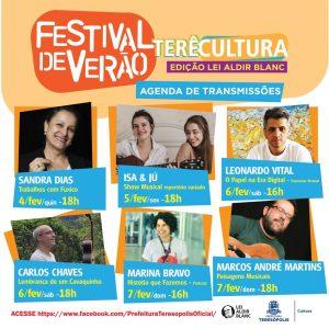 Atrações Festival de Verão Terê Cultura Online 2021