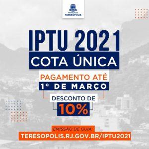 IPTU 2021: desconto de 10% para pagamento em cota única até 1º de março