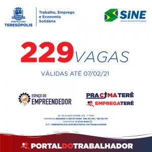 Programa 'Emprega Terê' divulga as oportunidades de emprego no Sine Teresópolis, com 229 vagas