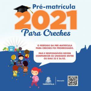 Período de pré-matrícula para creches municipais de Teresópolis é prorrogado