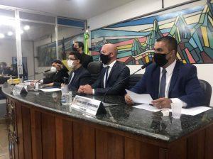 Prefeito Vinicius Claussen participa da 1ª sessão legislativa de 2021