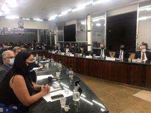 Vereadores na 1ª sessão da Câmara Municipal de 2021