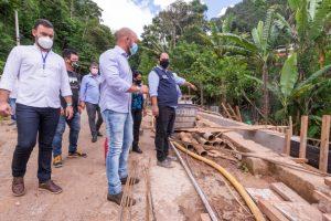 Visita à obra de contenção na Granja Florestal