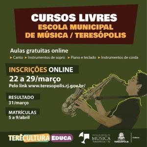 Secretaria de Cultura abre inscrições para cursos on-line de música