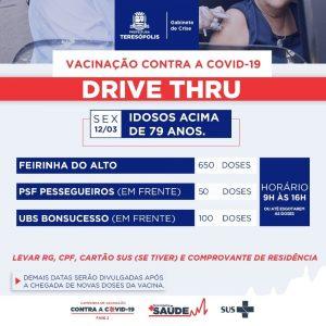 Teresópolis – novo lote da vacina e amplia a imunização de idosos acima 79 anos