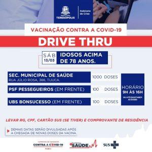 Teresópolis – novo lote da vacina e amplia a imunização de idosos acima 78 anos