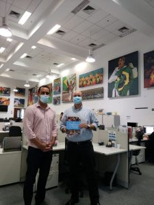Gustavo Lopes, sec. de Esporte, e gerente executivo de Desenvolvimento Esportivo do COB, Kenji Saito