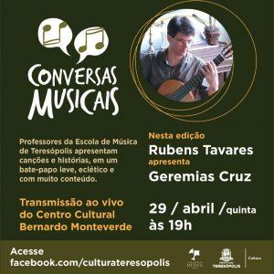 Secretaria de Cultura apresenta nova edição do projeto 'Conversas Musicais' nesta quinta, 29