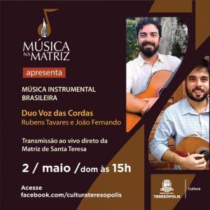'Música na Matriz' acontece no domingo, 02/05 em Teresópolis