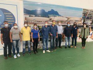 Secretários de Esportes de Teresópolis, Gustavo Lopes, e do Rio de Janeiro, Guilherme Schleder, se reúnem com representantes das federações de Badminton, Jiu-jitsu, Karatê e de Voleibol Master
