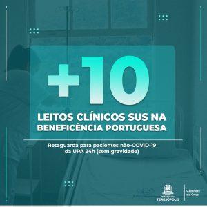 Novos 10 leitos clínicos SUS são abertos na Beneficência Portuguesa