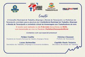 Teresópolis realiza 1ª Conferência de Trabalho, Empregoe Renda, renova Conselho e homenageia Trabalhadores do Ano