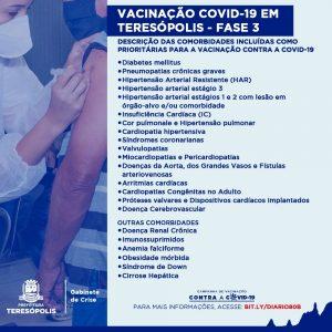 Resolução descreve comorbidades para vacinação prioritária contra a Covid-19