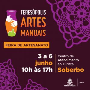 'Teresópolis Artes Manuais' de 03 à 06 de junho