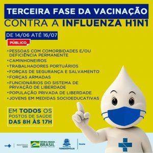 Teresópolis inicia terceira fase da campanha de imunização contra a influenza H1N1