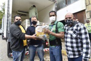 Três toneladas em cestas básicas do Mesa Brasil Sesc chegam a Teresópolis