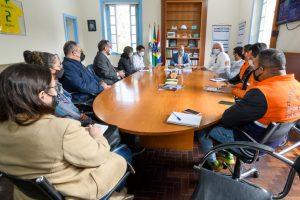 Apresentação do projeto japonês no gabinete do Prefeito Vinicius Claussen