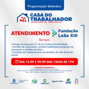 Casa do Trabalhador promove atendimento da Fundação Leão XIII