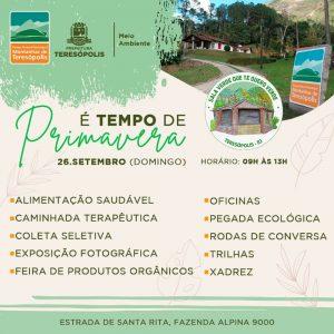 Prefeitura celebra a chegada da Primavera com programação especial no domingo, 26/09, no Parque Montanhas de Teresópolis