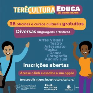 Cultura abre inscrições para 1000 vagas em 36 cursos gratuitos