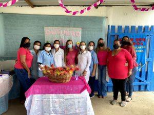Ação do Outubro Rosa realizada pelo CRAS Volante e pela UBS de Bonsucesso faz sucesso entre as mulheres assistidas pela unidade