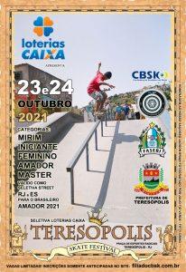 Teresópolis Skate Festival - seletiva de skate street amador nos dias 23 e 24-10